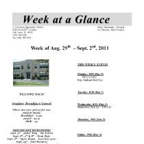 """Image of Week at a Glance, 2011-2012 - Compilation of the """"Week at a Glance,"""" a newsletter published by the Joseph Covington Elementary School during the 2011-12 academic year."""
