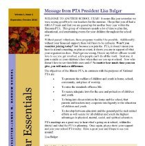 Image of Bear Essentials, 2010-2011 - A compilation of the newsletters published by the J.M. Hannum Elementary School Parent-Teacher Association during the 2010-11 academic year.