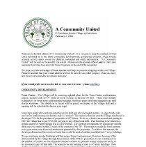 Image of A Community United: E-Newsletter for the Village of Oak Lawn, 2006 - Compilation of electronic newsletters produced by the Village of Oak Lawn for its residents during the year 2006.  Includes information on activities and developments taking place in the village.