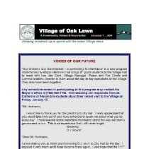 Image of A Community United: E-Newsletter for the Village of Oak Lawn, 2007 - Compilation of electronic newsletters produced by the Village of Oak Lawn for its residents during the year 2007.  Includes information on activities and developments taking place in the village.