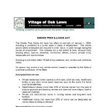 Image of A Community United: E-Newsletter for the Village of Oak Lawn, 2008 - Compilation of electronic newsletters produced by the Village of Oak Lawn for its residents during the year 2008.  Includes information on activities and developments taking place in the village.
