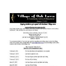 Image of A Community United: E-Newsletter for the Village of Oak Lawn, 2012 - Compilation of electronic newsletters produced by the Village of Oak Lawn for its residents during the year 2012.  Includes information on activities and developments taking place in the village.