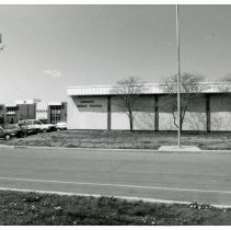 Image of Simmons Middle School - This is a photograph of Simmons Middle School located at 6450 West 95th Street. This image shows an exterior view of the front of the school.