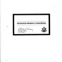 Image of Advisory Committee of Senator Charles H. Percy - Membership directory of Senator Charles H. Percy's advisory committees. The members are to aid in improving communications between the Senator and all Illinoisans. Includes names, residential addresses, business addresses, occupation, and telephone number.