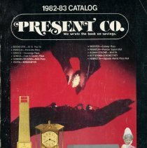 Image of Present Co. Mail Order Catalog, 1982 - 1983 - This item is a mail order catalog from Present Co. It features numerous different products including electronics, furniture, cameras and toys. The book was published by Merchandisers Association Inc. located at 4544 West 103rd Street in Oak Lawn.