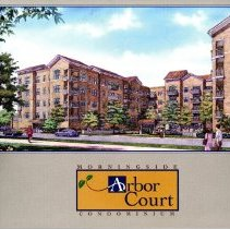 Image of Arbor Court Condominium Sales Booklet - Publication promoting the sale of Arbor Court Condominiums, developed by the Morningside Group.  Includes price list. The units are located at 5100 West 96th Street in Oak Lawn.