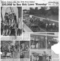 Image of Chicago American Special Page: Oak Lawn Round-Up, 1953 - Page from the Chicago American newspaper published in September 17, 1953 consisting of articles and photographs concerning the Oak Lawn Round-Up festival held in September of 1953.