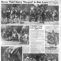 Image of Chicago Daily Special Page: Oak Lawn Round-Up, 1952 - Page from the Chicago Daily newspaper published in September 25, 1952 consisting of articles and photographs concerning the Oak Lawn Round-Up festival held in September of 1952.