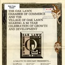 Image of Oak Lawn Chamber of Commerce 50th Anniversary Special Issue, 1996 - Special edition published by the Oak Lawn Independent newspaper April 11, 1996, which celebrates the 50th anniversary of the Oak Lawn Chamber of Commerce.  Included in the publication are numerous articles and photographs regarding the development of the village, as well as many individual businesses and owners.