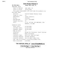 Vietnam Casualties - Documents obtained from