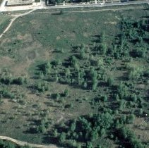 Image of Aerial Photograph of Chicago Ridge Prairie - This is a slide taken in 1984 featuring an ariel view of what is believed to be the Chicago Ridge Prairie area located near 105th and Menard. The area is part of the Oak Lawn Park District.
