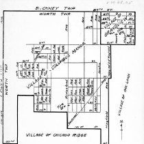 Image of 1940 Columbus Manor and Grandview Street Map - Map showing the limits and location of principal streets of the unincorporated sections of Columbus Manor and Grandview Park in February of 1940. These areas were later annexed into the Village of Oak Lawn.