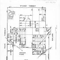 Image of 1951 Columbus Manor Fire Protection District Map - Map showing the limits of the Columbus Manor fire protection district in 1951. This area was later annexed into the Village of Oak Lawn.