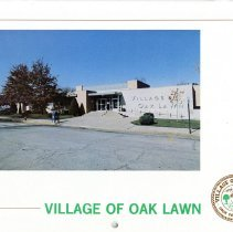 Image of Village of Oak Lawn Calendar, 1984 - In addition to a twelve-month calendar of events for the year 1984, there is also information on various village officials and departments, as well as numerous photographs. The front features an image of the Oak Lawn Village Hall.