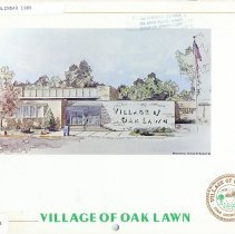 Image of Village of Oak Lawn Calendar, 1985 - In addition to a twelve-month calendar of events for the year 1985, there is also information on various village officials and departments, as well as numerous photographs. The front features an image of the Oak Lawn Village Hall.