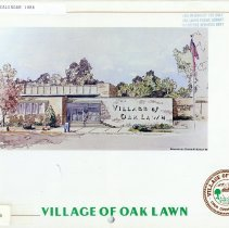 Image of Village of Oak Lawn Calendar, 1986 - In addition to a twelve-month calendar of events for the year 1986, there is also information on various village officials and departments, as well as numerous photographs. The front features an image of the Oak Lawn Village Hall.