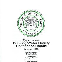Image of Annual Drinking Water Quality Report, 1998 - A summary of the quality of water provided to its residents by the Village of Oak Lawn during 1998.  The body of the report consists primarily of lists of contaminants and the amount, if any, found in the water sample.