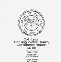 Image of Annual Drinking Water Quality Report, 2002 - A summary of the quality of water provided to its residents by the Village of Oak Lawn during 2002.  The body of the report consists primarily of lists of contaminants and the amount, if any, found in the water sample.