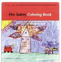 Image of 27th Annual Fire Safety Coloring Book, 2005 - Coloring book concerning fire safety disseminated by the Oak Lawn Fire Department, courtesy of the Oak Lawn Chamber of Commerce, in 2005. The cover was created by Brandie Nauseda, a Columbus Manor Elementary School student. Contains line drawings of topics dealing with fire safety as well as numerous advertisements from local businesses.