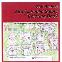 Image of 31st Annual Fire and Public Safety Coloring Book, 2009 - Coloring book concerning fire and public safety disseminated by the Oak Lawn Fire Department and Oak Lawn Police Department, courtesy of the Oak Lawn Chamber of Commerce in 2009. The front cover was created by Jeffrey Thome, a Hannum Elementary School student, and the back cover by Diana Casillas, a Kolb School student. Contains line drawings of topics dealing with fire and public safety as well as numerous advertisements from local businesses.