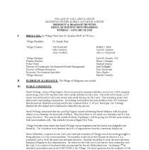 Image of Village of Oak Lawn Board of Trustees Minutes, 2015 - Village of Oak Lawn Board of Trustees Minutes for the year 2015.