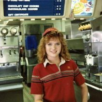 Image of A Weekend in the Life of Oak Lawn - This is a photograph of everyday life in Oak Lawn during 1987. It Wendy Norton, an employee at the McDonald's located at 9128 S. Cicero.