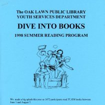 """Image of Youth Services Summer Reading Program Statistics, 1998 - Compilation of statistics regarding the Youth Services' reading program conducted during the summer of 1998 (""""Dive into Books"""").  Includes information on schools attended, grade levels, adjunct programs, attendance figures, and more."""