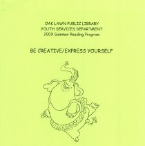 """Image of Youth Services Summer Reading Program Statistics, 2009 - Compilation of statistics regarding the Youth Services' reading program conducted during the summer of 2009 (""""Be Creative / Express Yourself"""").  Includes information on schools attended, grade levels, adjunct programs, attendance figures, and more."""