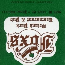 Image of Fox's Restaurant and Pub Matchbook - This item is a matchbook from Fox's Restaurant and Pub located at 9420 South Cicero Avenue in Oak Lawn. It is green in color and features a logo.