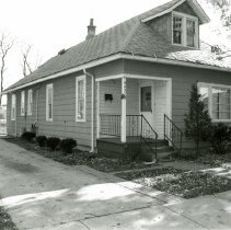 Image of 51st Street House - This is a photograph of a house located at 9437 S. 51st Street. It was razed to make way for a parking lot.