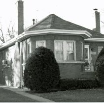 Image of 9340 S. 53rd Court House - This is a photograph of a house, a classic Chicago-style brick bungalow, located at 9340 S. 53rd Court, built circa 1928.
