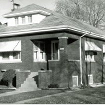 Image of 9327 S. 53rd Court House - This is a photograph of a house, a classic Chicago-style brick bungalow, located at 9327 S. 53rd Court.