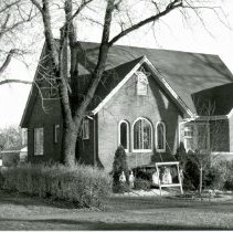 Image of 9349 S. 53rd Court House - This is a photograph of a house located at 9349 S. 53rd Court (northeast corner of Oak Street and 53rd Court). A manger scene complete with a pair of angels and a star with streaming lights decorates the home.