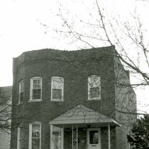 Image of 9516 S. 53rd Avenue - This is a photograph of a house located at 9516 S. 53rd Avenue. The home was built around 1900. Herbert Hopkins, son of Bertha and Dr. John P Hopkins, Oak Lawn's first doctor, resided in this home from about 1931 to 1935.
