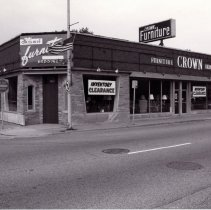 Image of 95th Street Oak Lawn Businesses - This is a photograph of Crown Furniture Company Inc. located at 4901 - 4903 W. 95th Street.  It features the corner storefront and the sign on top of the building.