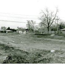 Image of Water Retention Pond - This is a photograph of construction of a water retention pond located at 52nd Avenue and Harnew Road. Six homes were razed to make room for the pond in an effort to resolve flooding of homes in the area during heavy rain storms
