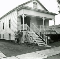 Image of 9435 S. 52nd Avenue Residence - This is a photograph of a house located at 9435 S. 52nd Avenue. It is believed to be the second one room schoolhouse built in Oak Lawn in 1878 and formerly located at 95th Street and Cicero Avenue.