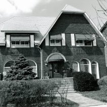 Image of 9530 S. 53rd Avenue Residence - This is a photograph of the O'Brien Courthouse. It is located at 9530 South 53rd Avenue and was built around 1927. The home was constructed by early Police Magistrate and Justice of the Peace Frank J. O'Brien and his wife Mary (Mabel). The home was declared a historical landmark by the Oak Lawn Historic Preservation Commission. The green plaque marking the home as a historical landmark can be seen mounted on the exterior the home to the right of front door in the picture.