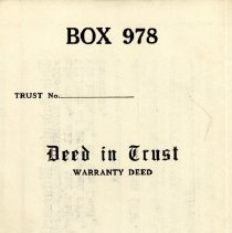 Image of Warranty Deed in Trust, 1939 - Warranty deed, dated November 15, 1939, for the following real estate: The west half of the southeast quarter of section five (5), Township thirty-seven (37) north, range thirteen (13), east of the third principal meridian, in Cook County, Illinois.