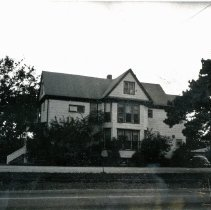 Image of Simpson Home - This is a photograph of the Simpson home, now known as the Homestead Barr, located at 9306 S. Central Avenue. In 1842, John Simpson purchased land in the area which he farmed. This home, built around 1858, is believed to have been owned by the Simpson family and is one of the oldest structures in Oak Lawn. The building has been designated as a historical landmark by the Oak Lawn Historical Preservation Commission.