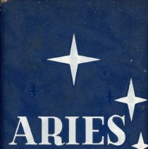 Image of Aries, 1959 - This item is the 1959 yearbook from Reavis High School located in Burbank.  The cover is blue in color and features several stars.