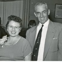 Image of Smutney 25th Wedding Anniversary - This is a photograph of Albert J. Smutney and his wife Agnes Irene Smutney (nee Riley) on their 25th wedding anniversary.