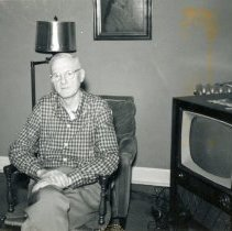 Image of Walter Hopkins - This is a photograph of Walter Hopkins (at 106 W. 80th Street), second son of Dr. John P. Hopkins. Walter was a charter member and first treasurer of the Oak Lawn Athletic Association.