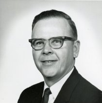 "Image of Sinclair ""Bud"" Randall - This is a photograph portrait of Sinclair ""Bud"" Randall, successful candidate for Oak Lawn Village Trustee in 1965."