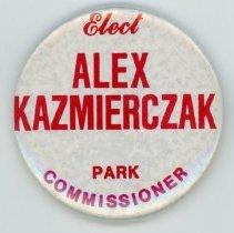 Image of Alex Kazmierczak Promotional Pin