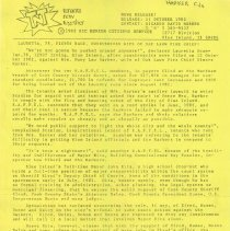 Image of BIC Senior Citizens Service Press Release, 1982 - Two press releases issued in 1982 by the BIC Senior Citizens Service regarding law suits involving Mary Lou Harker and her tenants.