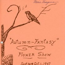 Image of Autumn-Fantasy Flower Show, 1967 - Program provided attendees of the Park Hills Garden Club Council flower show held September 30th and October 1st, 1967.  The Oak Lawn Garden Club was a member of this organization.  Includes an entry form, a list of committee members, a schedule of events, and rules.