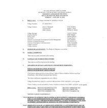 Image of Village of Oak Lawn Board of Trustees Minutes, 2016 - Village of Oak Lawn Board of Trustees Minutes for the year 2016.