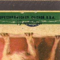 Image of Cleary's Tavern Matchbook - This item is a matchbook from Cleary's Tavern located at 9544 Southwest Highway in Oak Lawn. The front is green and orange in color and features a bulldog.