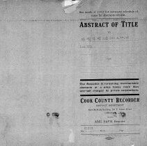 Image of Abstract of Title to S1/2 E1/2 W1/2 SE1/4 Sec 4.37.13 - Title abstract for property described as S1/2 E1/2 W1/2 SE1/4 Sec 4.37.13.  This includes land on Sproat Avenue and 95th Street.